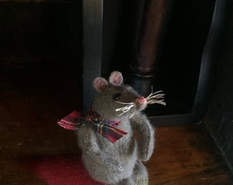 Primitive Mouse on Strawberry Pincushion