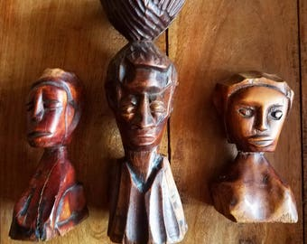 African Carved Wood Statues, African Art, Folk Art, Aboriginal Art, Carved Wood Statues, Brutalist Art
