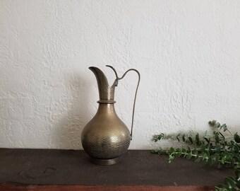 Vintage Brass Vase // Boho Decór