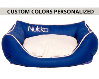 Custom Dog bed Personalized/ Free embroidery name/ Custom cat bed