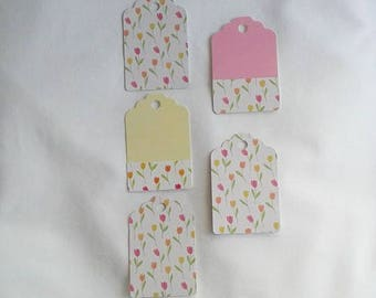 Tulip Tags / Tulips / Recycled / Up Cycled / Set of 5