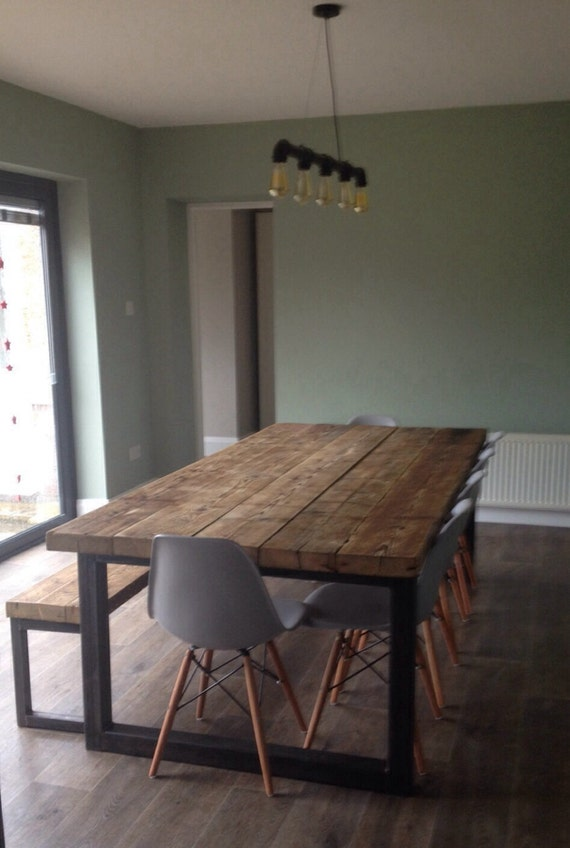 Superieur Reclaimed Industrial Chic 10 12 Seater Dining Table Bar Cafe