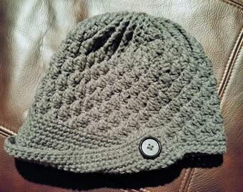 Women's peak newsboy cap