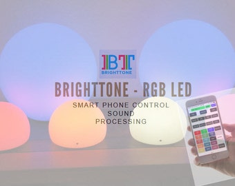 """Smart Audio Processing RGB LED Lamp with iPhone and Android control 6"""" WiFi"""