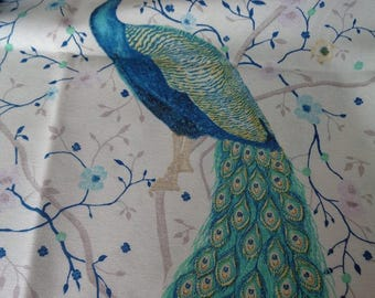 Cotton fabric thick Peacock pattern