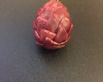 Red and Gold Dragon Egg Pendant