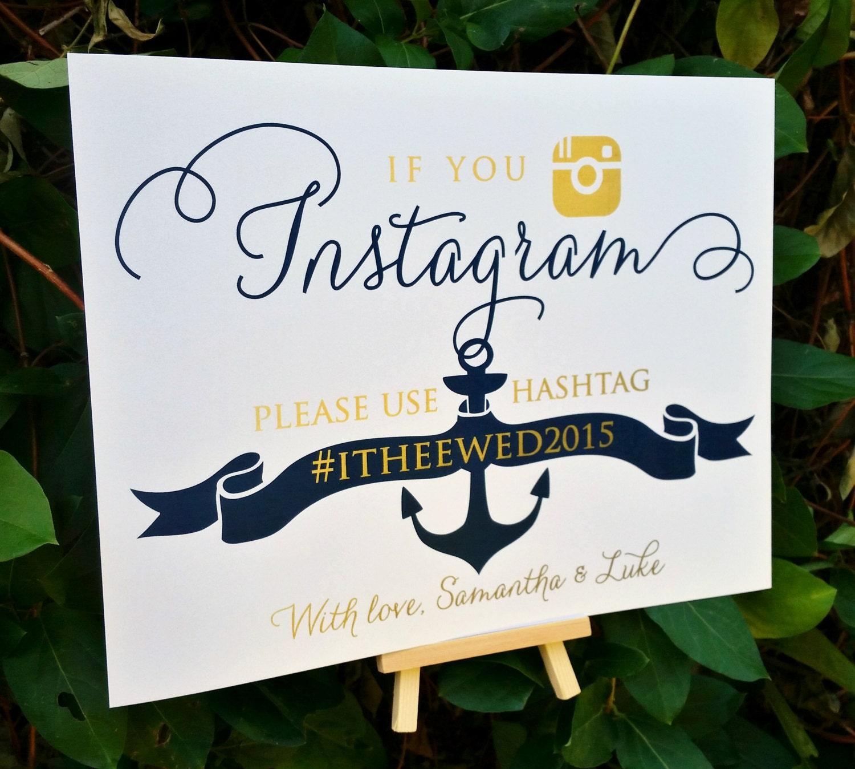 If you instagram nautical sign nautical wedding instagram zoom junglespirit Choice Image