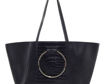 Black Ring Handle Tote