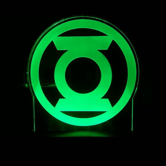The Green Lantern Superhero Acrylic Led Light Sign Led
