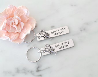 Friends Inspired 'You're My Lobster' Quote Keychain Set | Gift for Girlfriend, Boyfriend, or Best Friend | Personalization Available