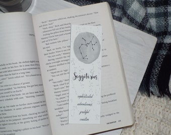 Zodiac Themed Bookmarks Constellations Personalities