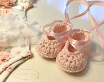 Baby Ballet Shoes Crochet Pattern PDF 259