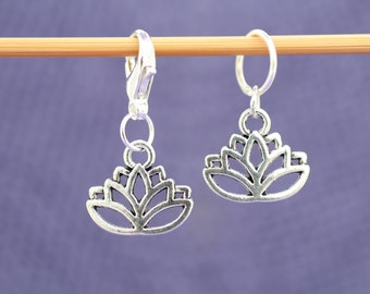 Lotus Flower Knitting or Crochet Stitch Marker, Knitting Stitch Marker, Crochet Stitch Marker, Gift for Knitters, Crochet Tools, Buddhist