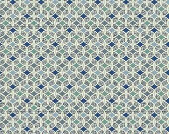 Fernwood - Blue Fernwood Geo by Jennifer Young from Benartex