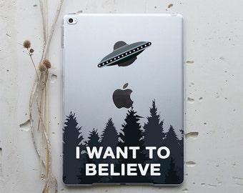 iPad Air iPad Air Case Leather Sleeve iPad Air 2 Case iPad Air 2 I Want To Believe Tablet Stand iPad Pro 12.9 Case iPad Mini 2 UFO WC4031