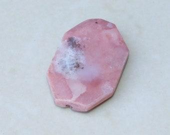 Pink Peruvian Opal Faceted Bead - Pink Opal Stone - Polished Pink Opal - Pink Opal Slab Bead Pendant - Druzy Pendant - 25mm x 38mm - 2159