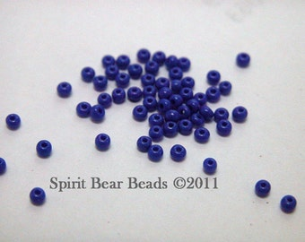 Royal Blue Opaque Czech Seed Beads size 11/0 lot of 20 grams