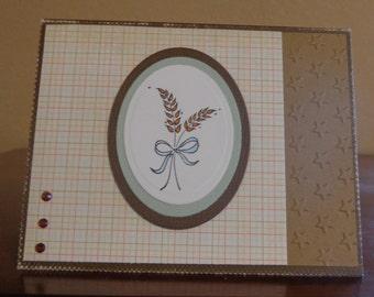Wheat blank card
