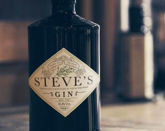 Personalised Styled Gin Labels