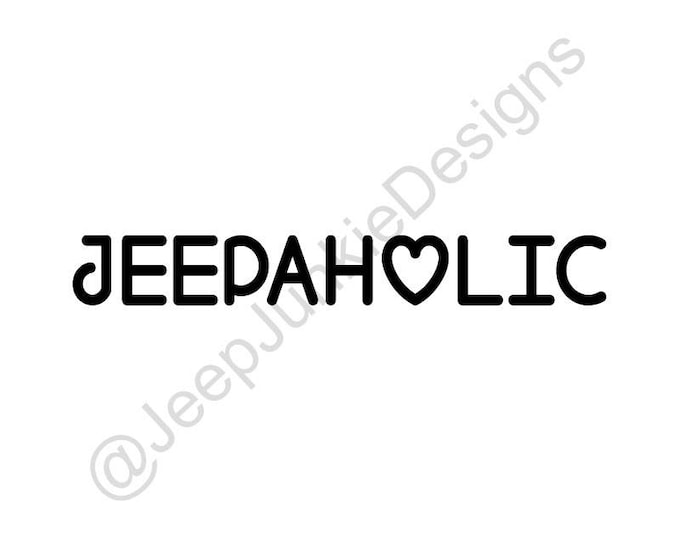 Jeepaholic Vinyl Decal