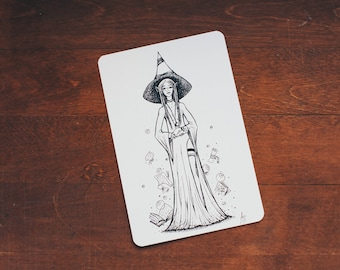 Elven Witch - card size print