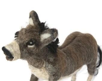 Waldorf Inspired Needle Felted Donkey for Nativity Set