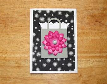 Birthday Card - Flower Birthday Card - Birthday Card for Her - Birthday Gift - Birthday Wishes - Happy Birthday - Handmade Birthday Card