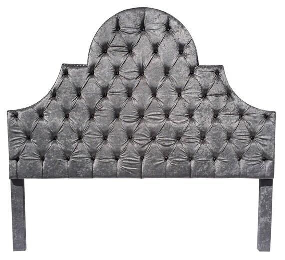 Silver Gray King Size Headboard Tufted Upholstered Headboard