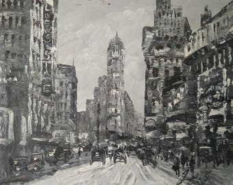 NYC Flatiron Building in Year 1903-Pen King -A1393