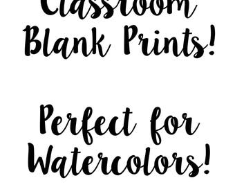 Set of Classroom Themed Prints Digital Download PRINTABLE!