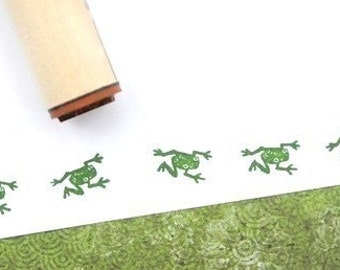 Crawling Tree Frog  Rubber Stamp