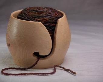 Yarn Bowl, Handmade From Silver Maple