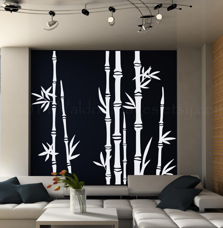 Bamboo Tree Wall Decal Living Room