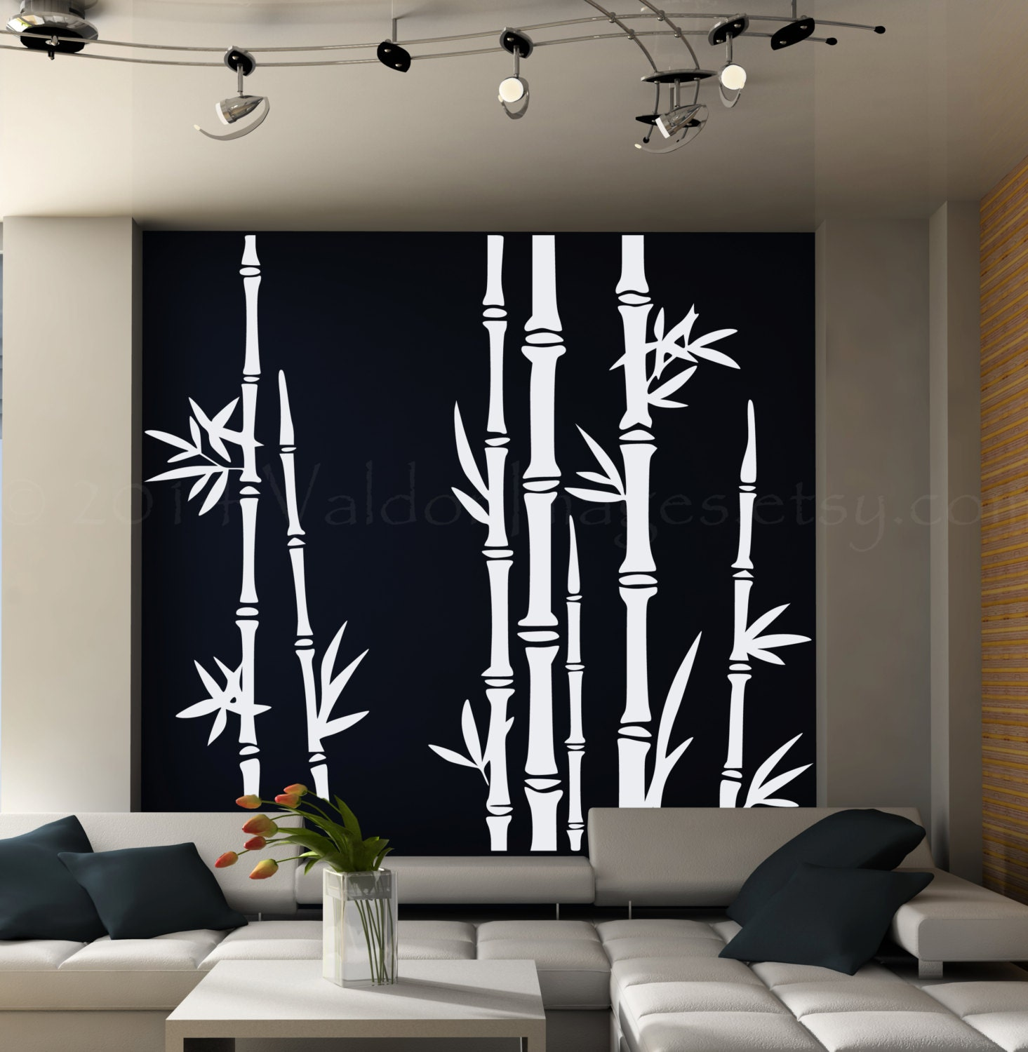 Bamboo Tree Wall Decal Living Room Wall Decal Tree Wall - Vinyl wall decals asian