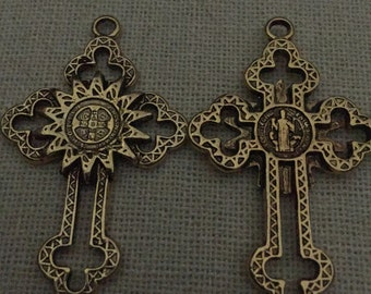 Gold St Benedict Cross
