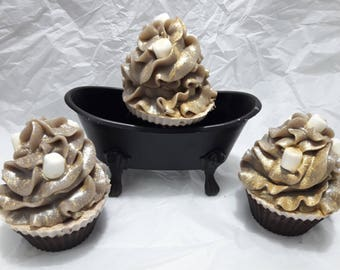 Hot Cocoa Soap Cupcake
