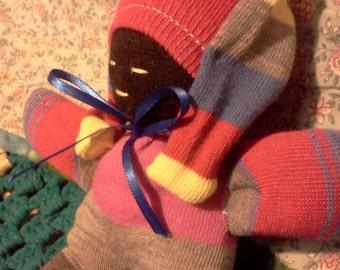 Sock doll sleeping
