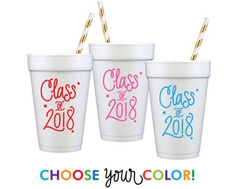 Graduation Foam Cups | Choose YOUR Color!