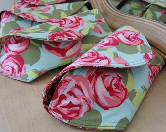 Flower Bouquet Clutches for Bridesmaids 4 pack