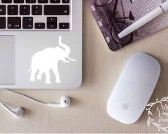 elephant silhouette decal, elephant car decal, elephant sticker, elephant, elephant laptop decal, elephant cup decal, elephant gift,