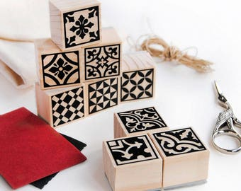 moroccan tile stamp set, craft kit for adults, moroccan tile craft, gift for crafters, mosaic tiles stamps, decorative tiles DIY, mosaic kit