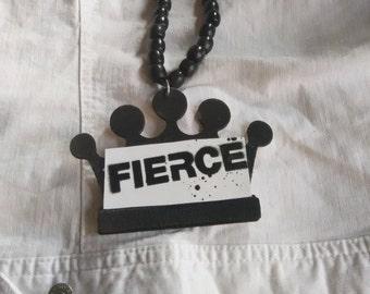 Long fierce necklace