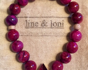 Beaded Bracelet, Gemstone Bracelet, Stretch Bracelet