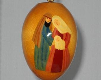 Religious Christmas Ornament, Joseph, Mary and Baby Jesus Christmas Decoration