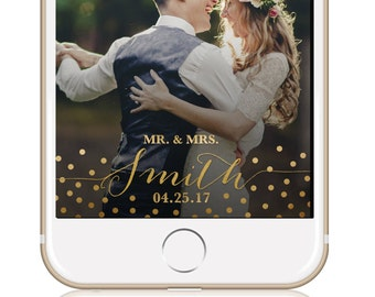 GOLD CONFETTI Wedding Snapchat Filter / Wedding Geofilter / Snapchat Geofilter / Custom Geofilter / Snapchat Filter Wedding / Winter Wedding