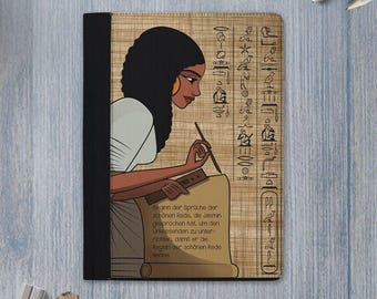 words of wisdom padfolio /  wisdom padfolio / words of wisdom notebook / wisdom notebook / ancient egypt scribe / Ptahhotep / personalized