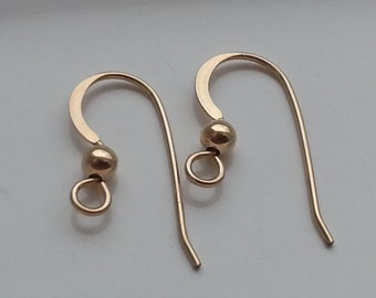 5 Pair 14k Gold Filled Earwires 22g MADE IN USA
