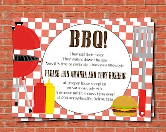 I do BBQ, BBQ invitation, printable BBQ party invitation, couples shower invitation, football party, tailgate party invitation, super bowl
