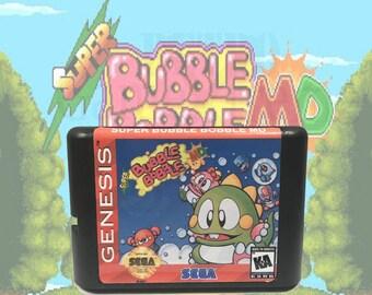Super Bubble Bobble MD Sega Genesis / Mega Drive fan made cartridge
