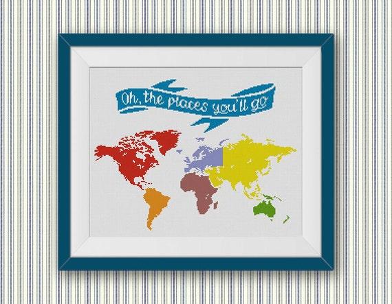 Bogo free world map cross stitch pattern oh the places youll go bogo free world map cross stitch pattern oh the places youll go cross stitch chart low poly geometric modern decor pdf download 022 de stitchline en gumiabroncs Gallery